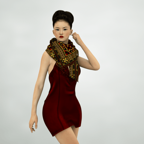 Duchess - Mykel Ankyn Limited Edition Fine Art Scarves