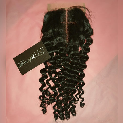Luxurious Curly Sheer Lace Closure