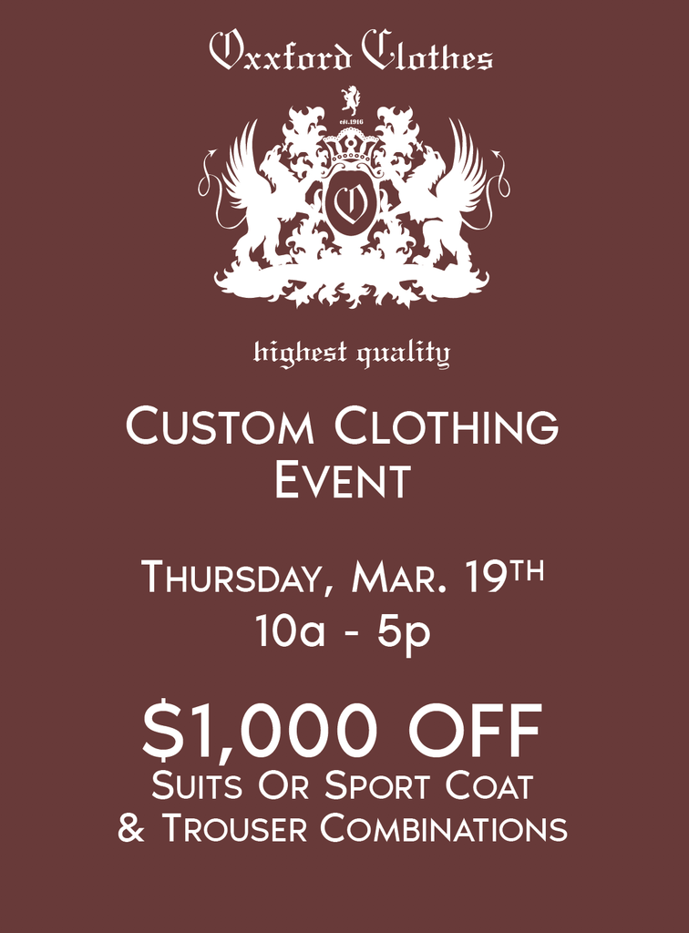 Oxxford Clothing Special Event