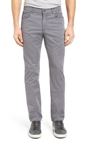 Prestige Grey Stretch Cotton Pants : Brax - Satel's