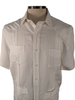 Brunotelli White Linen Guayabera Shirt : Brunotelli - Satel's