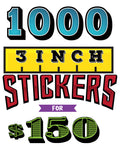 BLACK FRIDAY 1000 Stickers 3inch