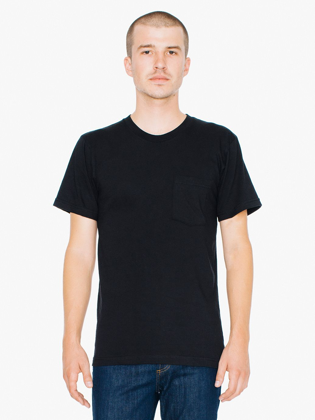 American Apparel - Fine Jersey Pocket Tee - Silkscreen - 2406