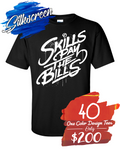 40 One Color Design Custom Printed Tees