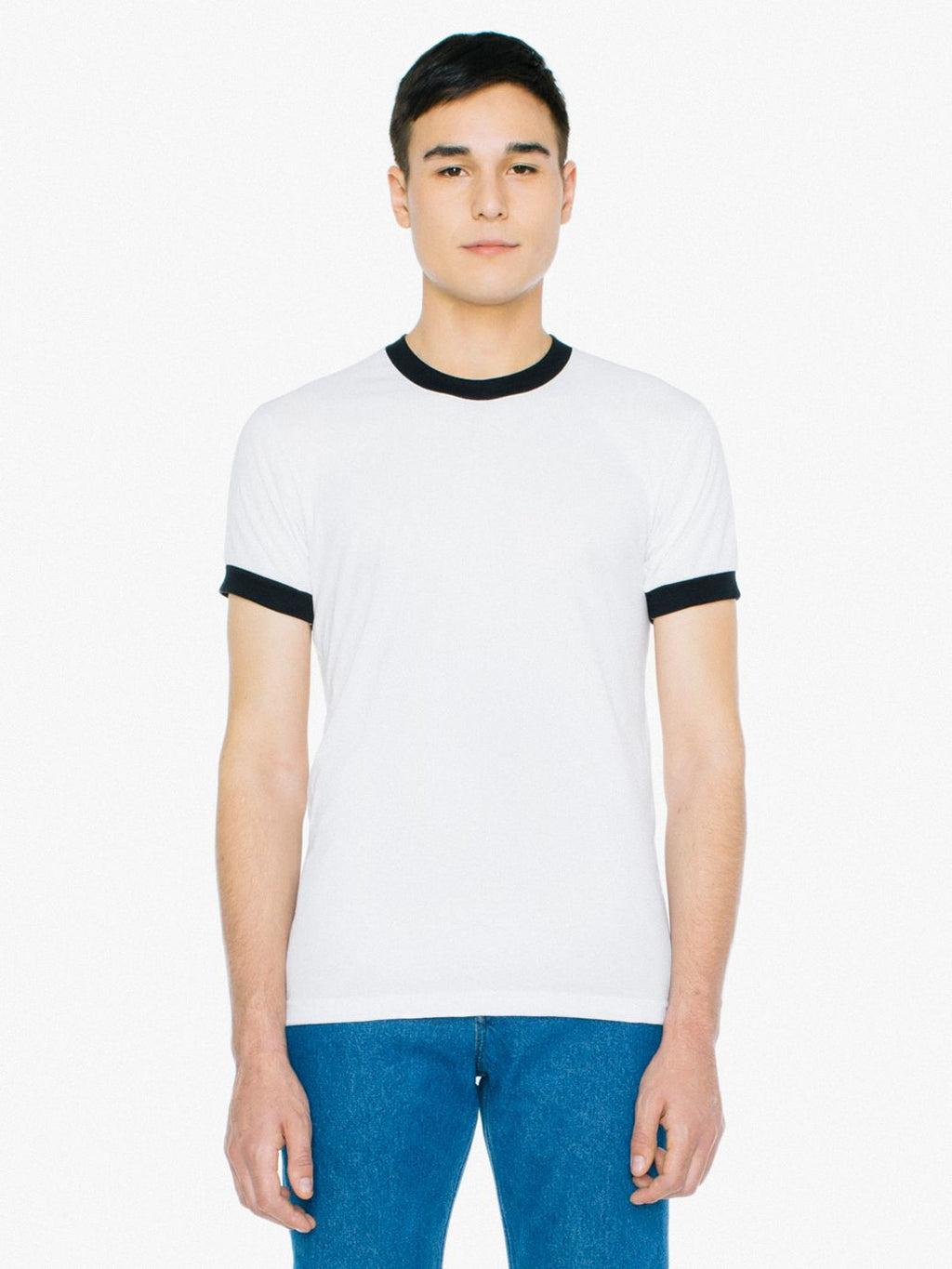 American Apparel - Poly-Cotton Short Sleeve Ringer Tee - Silkscreen - BB410