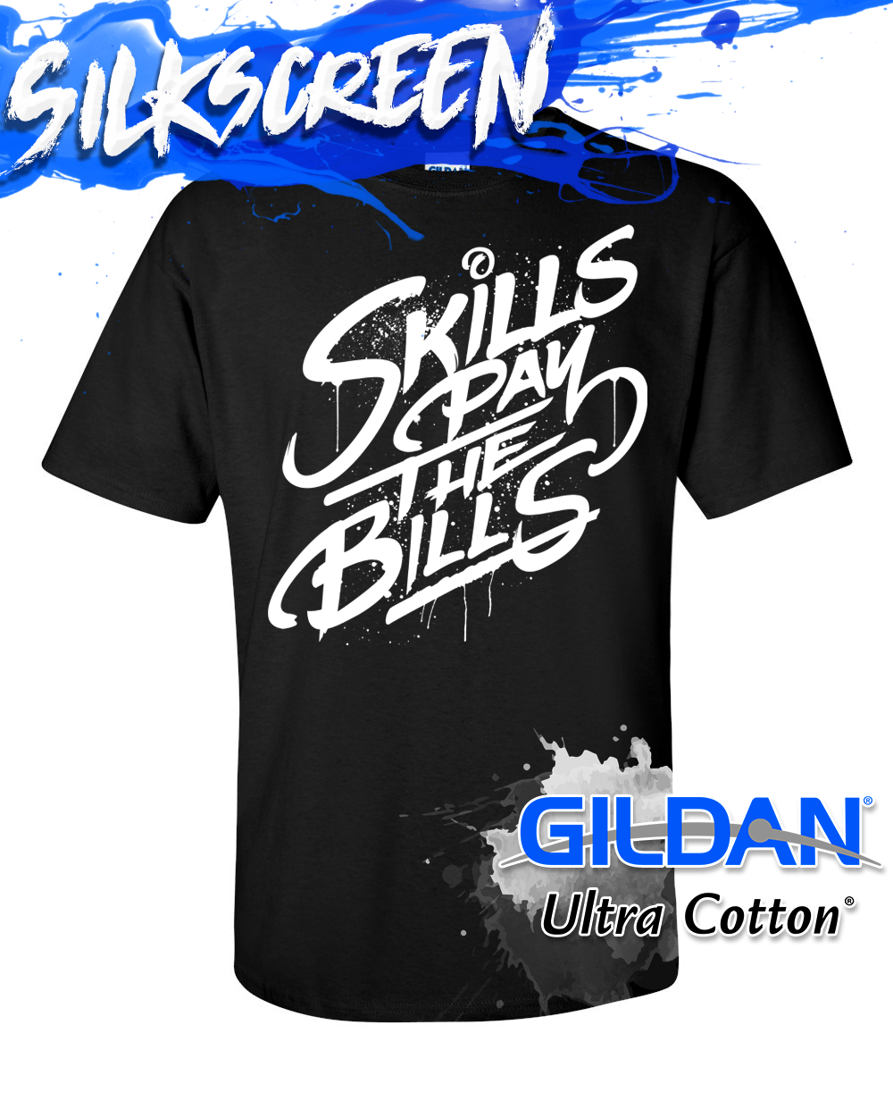 Gildan 2000 Silkscreen Custom Printed Tees