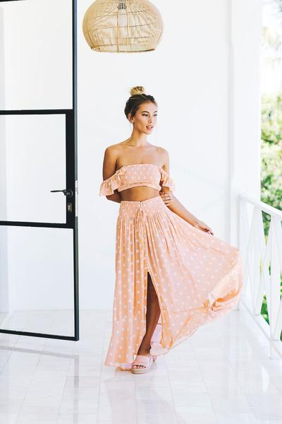 Blush Polka Dot Bandeau