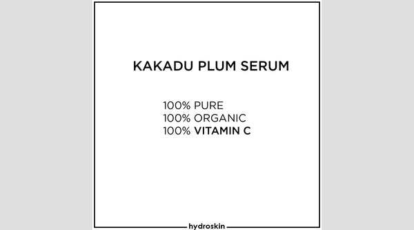 Kakadu Plum Text Graphic | HydroSkinCare