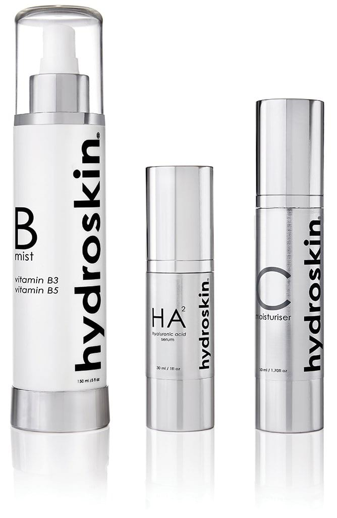 Ultimate  face hydration, the core of the HydroSkinCare range. 3 products: B Mist, HA² Serum, Moisturiser. Medical-grade skincare