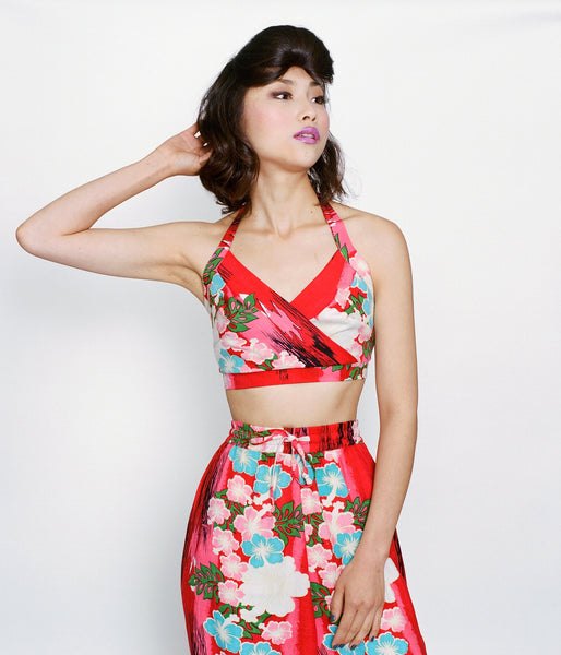 LADY OF THE TROPICS HALTER BRA TOP