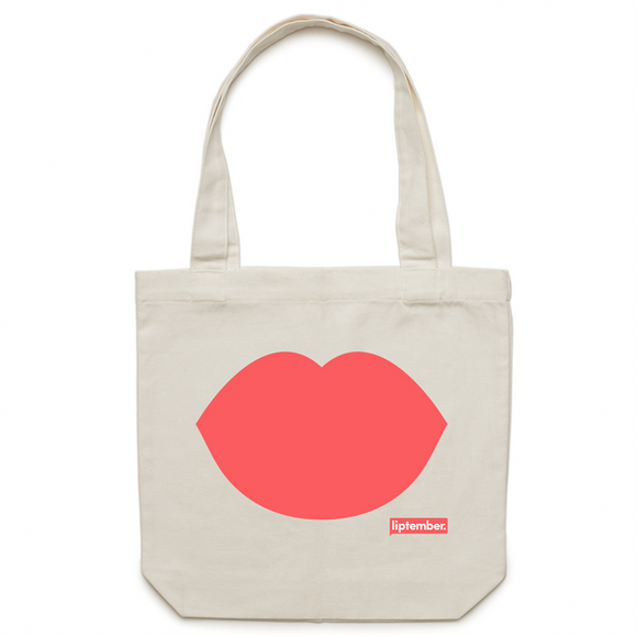 Liptember Lips - Canvas Tote Bag