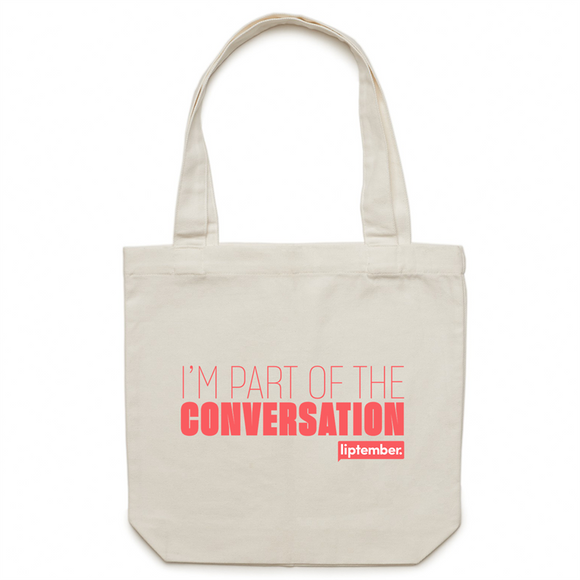 Liptember Supporter - Canvas Tote Bag
