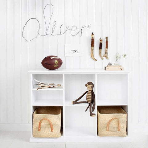Oliver - Seaside Dresser with Curved Front (White) w top