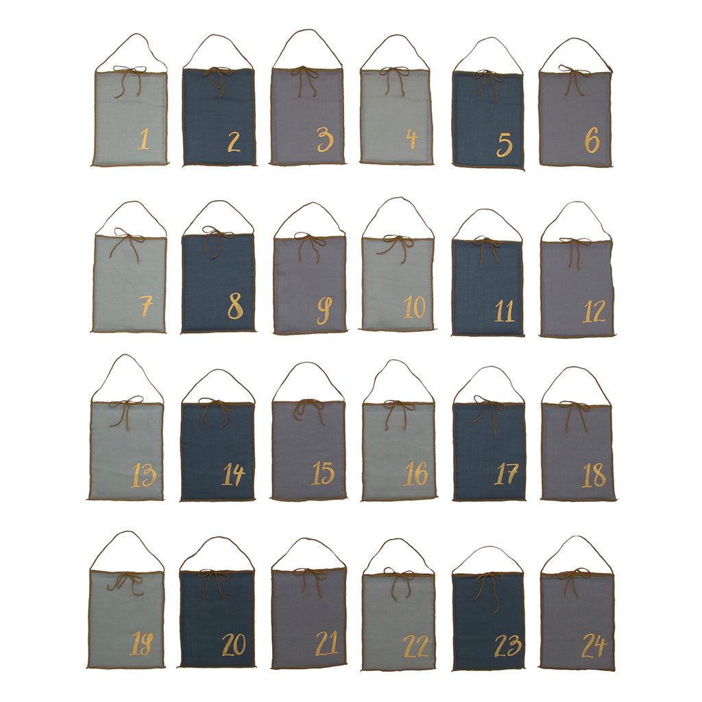 Advent Calendar Gift Bags - Blue