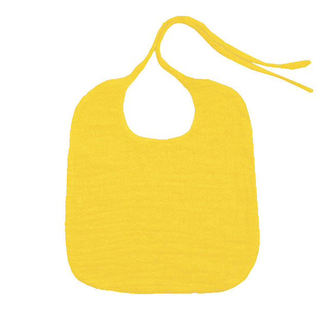 Round Baby Bib - Sunflower Yellow
