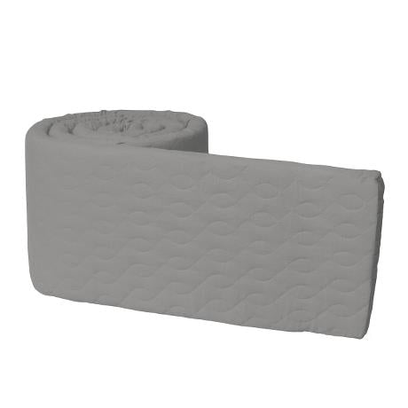 Baby Bumper Quilted - Elephant Grey