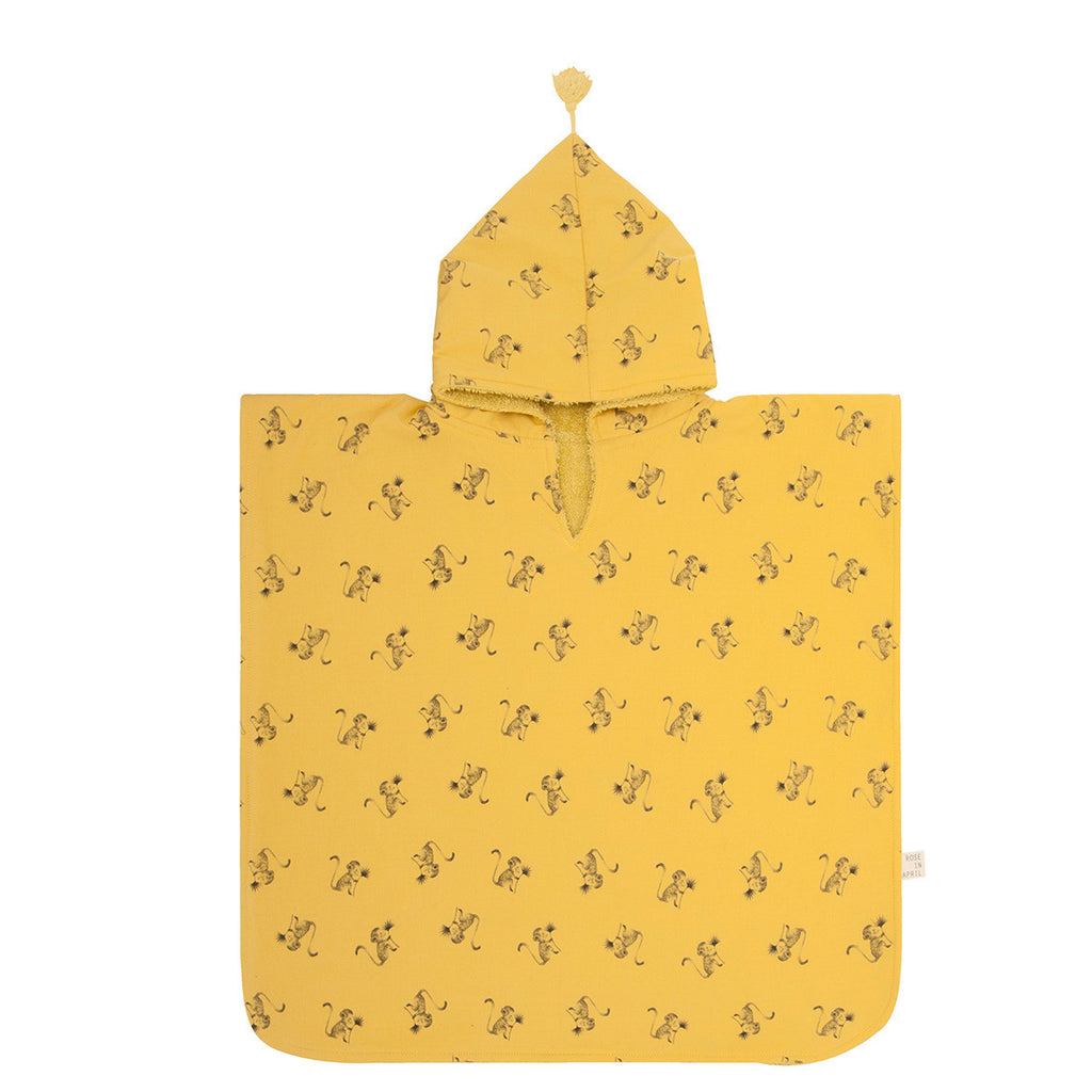 Bath Poncho - Yellow Mustard