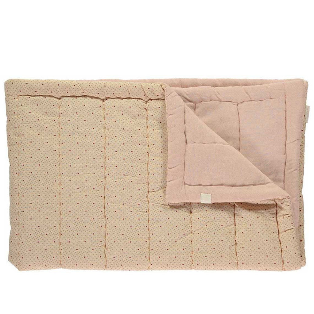 Printed Hand Quilted Blanket - Peach Puff/Rose