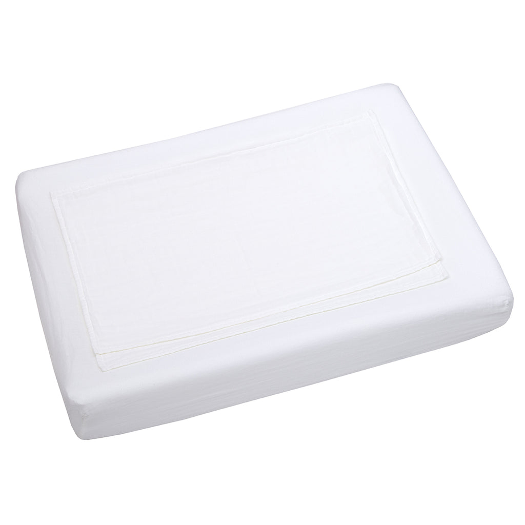 Changing Pad Cover Fitted - White