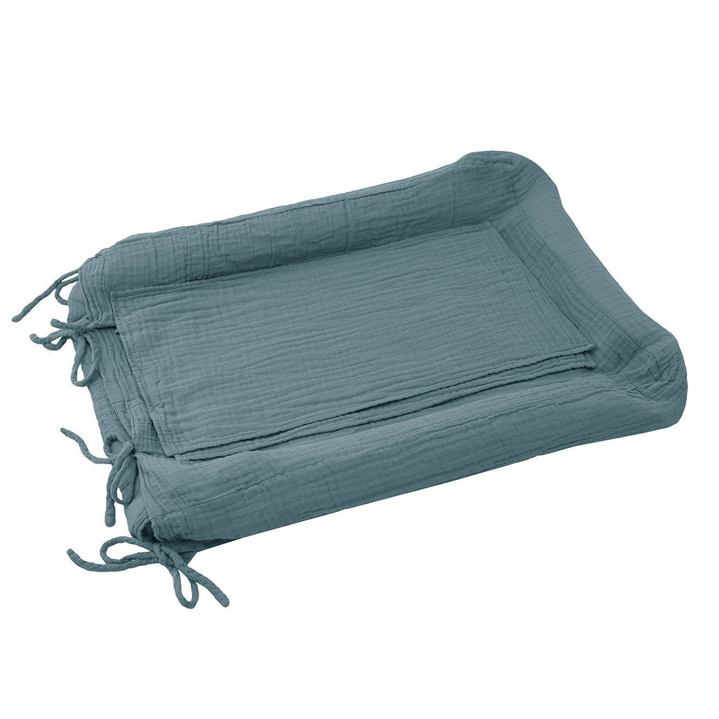 Changing Pad Cover Square - Ice Blue