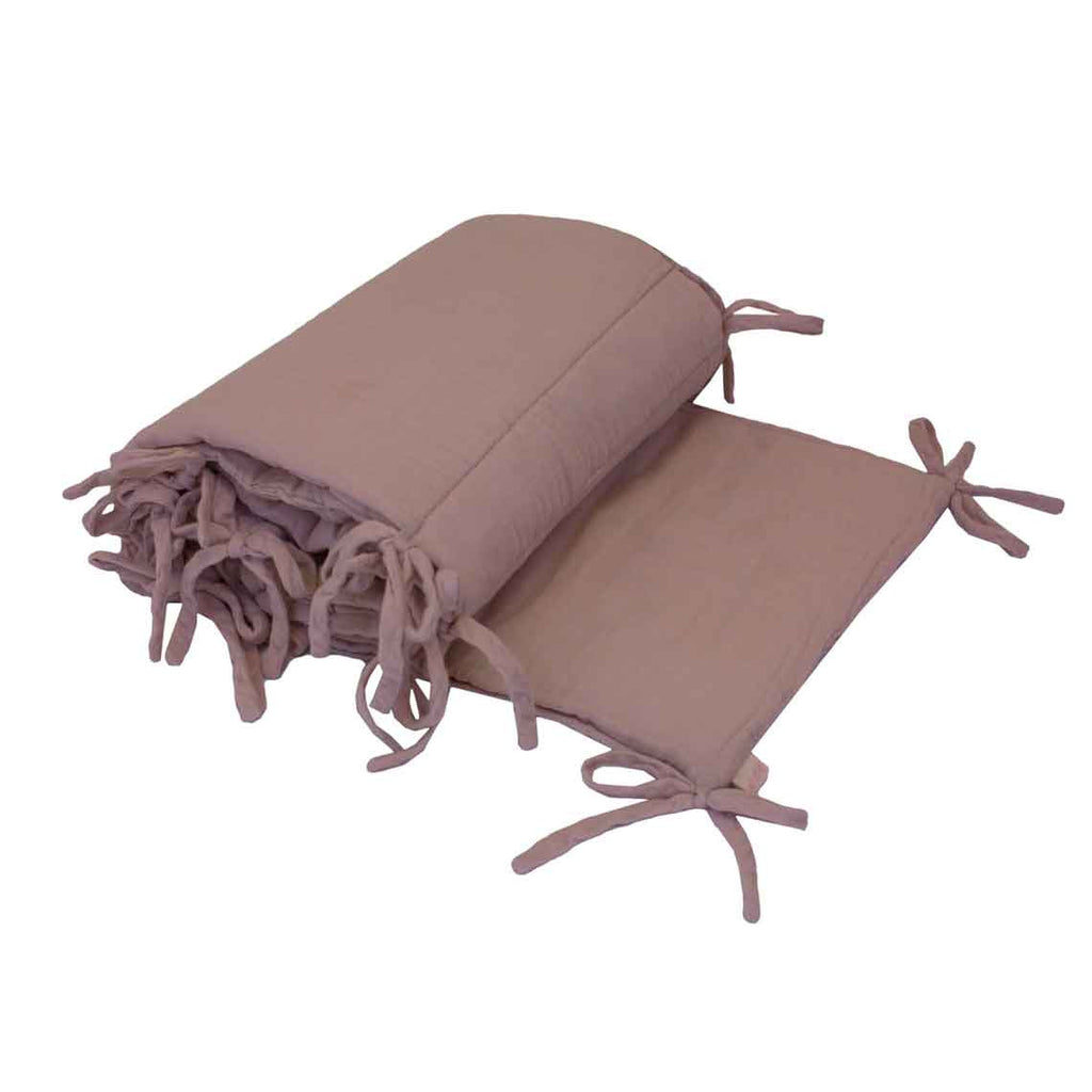 Cot Bumper Dusty Pink