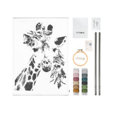 Crazy Giraffe Embroidery Kit Natural - Multicolour