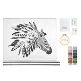 Crazy Zebra Embroidery Kit Natural - Multicolour
