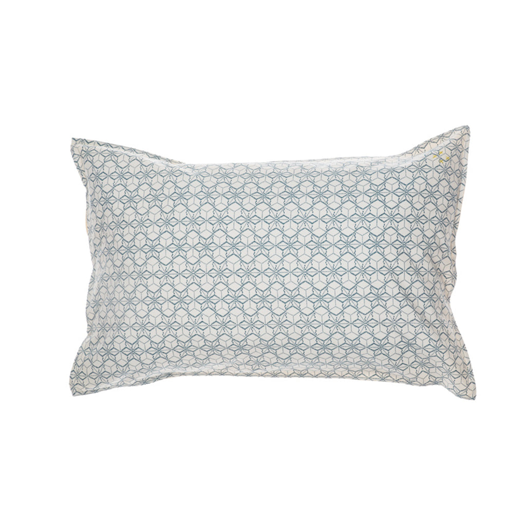 Dash Star Pillow Case - Indigo/Ivory
