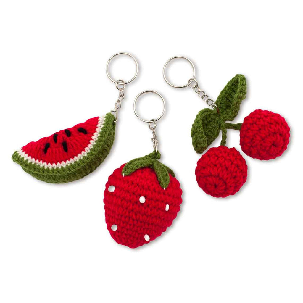Fruit Crochet Keychain