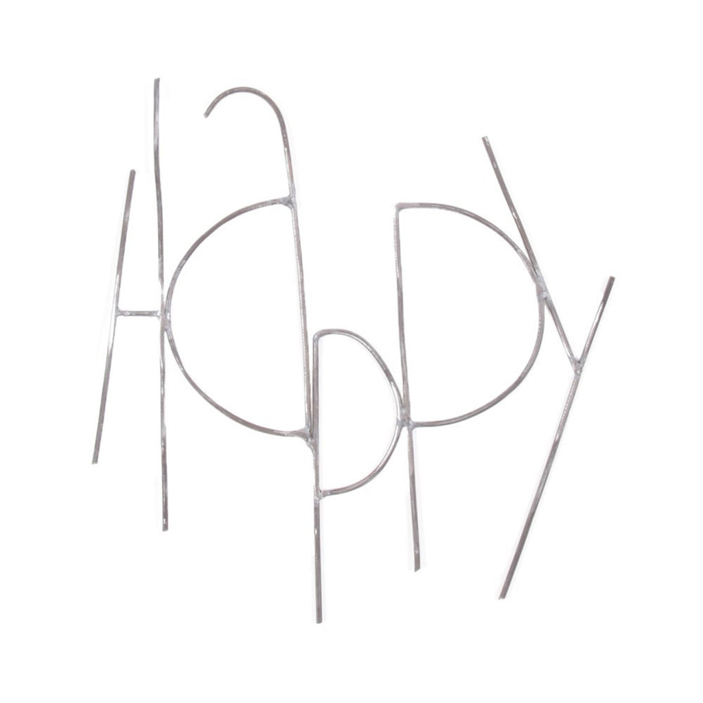 Metal Sign - Happy