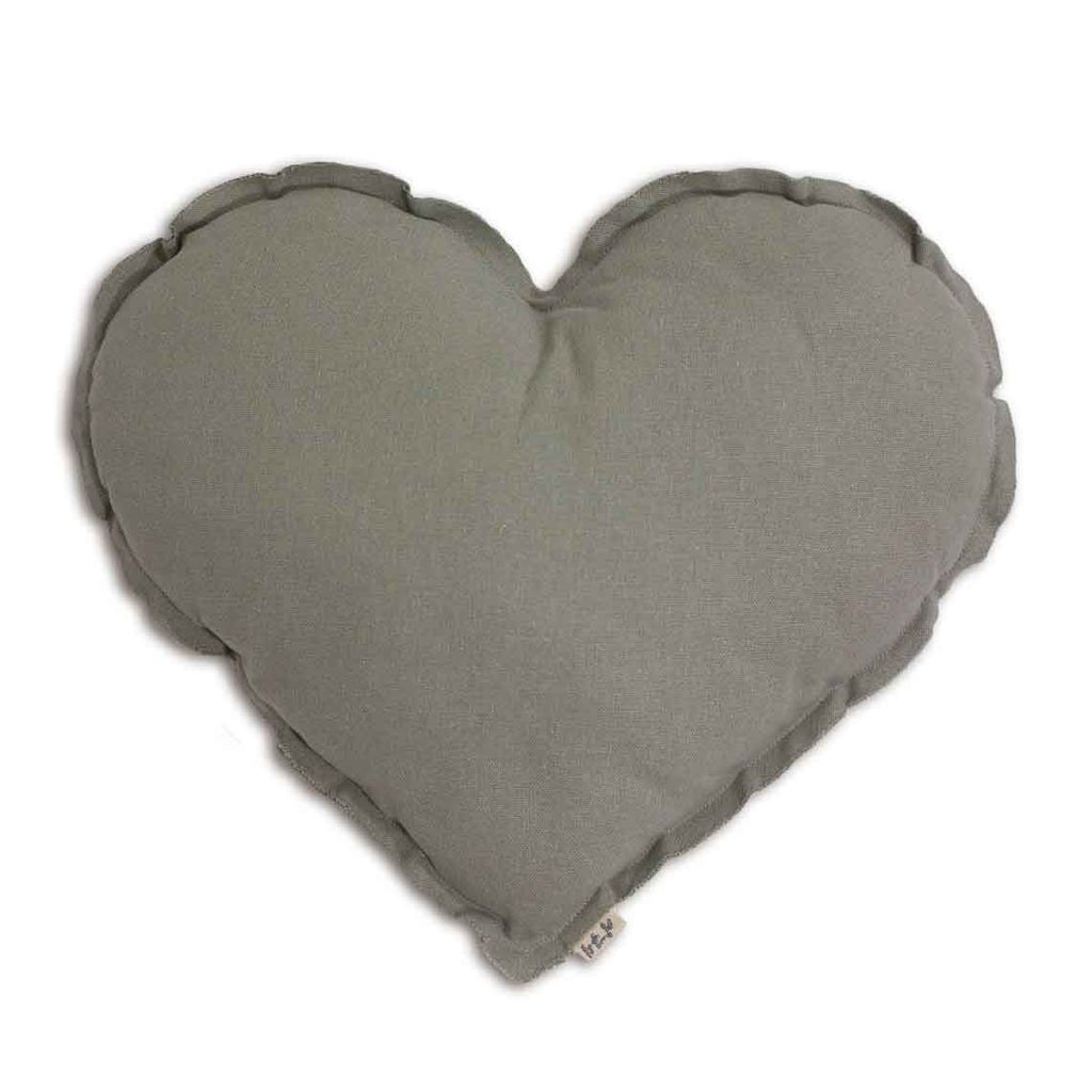 Heart Cushion - Silver Grey