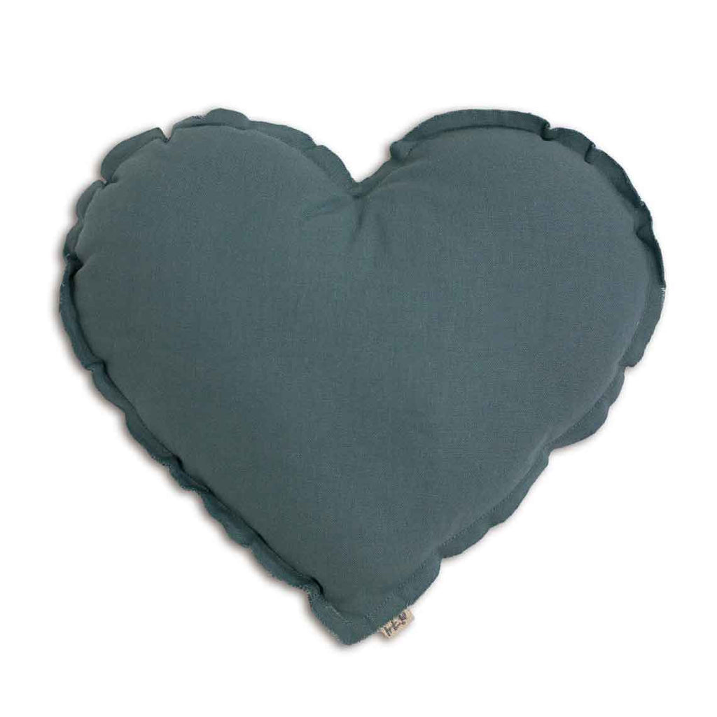 Heart Cushion- Ice Blue