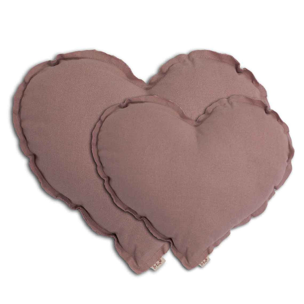 Heart Cushion - Dusty Pink