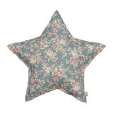 Star Cushion - Josephine Silver Grey Flowers