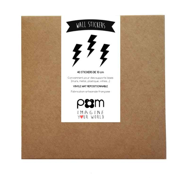 Lightning Bolt Stickers, black