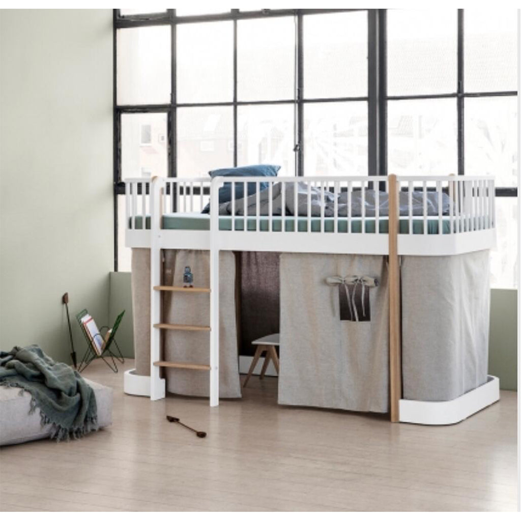 Wood Low Loft Bed