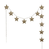Mini Star Garland - Iridescent Vinyl (Gold)