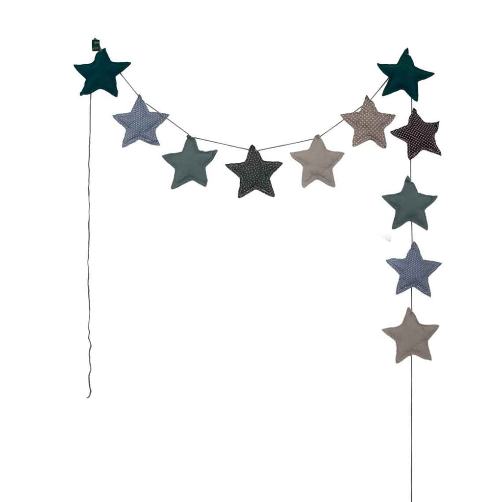 Mini Star Garland - Blue