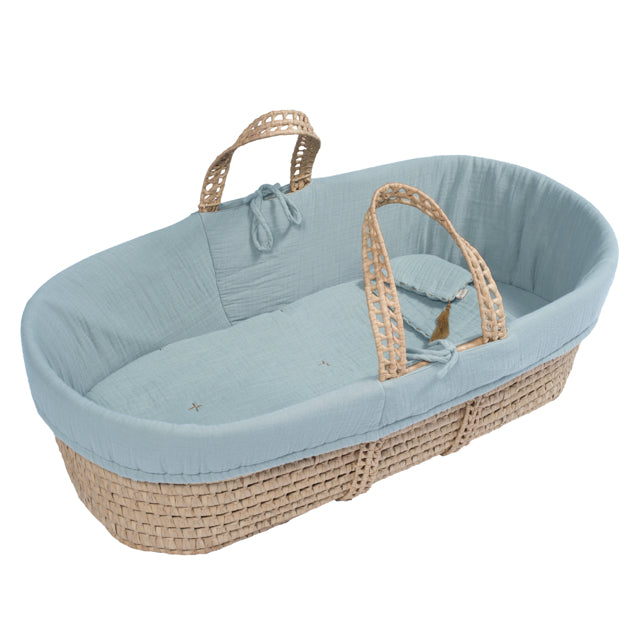 Moses Basket - Sweet Blue