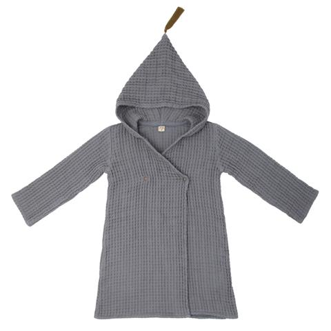 Bathrobe Kid - Stone Grey