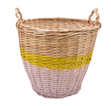 Ratatouille Medium Basket - Light Pink/Lemon Yellow