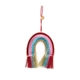 Rainbow Glitter Fabric Tree Decoration