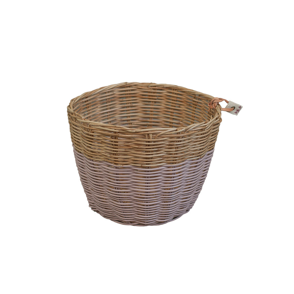 Rattan Basket - Dusty Pink Small