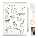 School Poster Embroidery Kit - Wild Animals