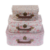 Vintage Floral Suitcase - Set Of 3