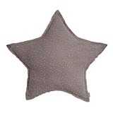 Star Cushion - Silver Grey With White Stars