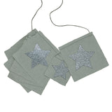 Glitter Star Garland - silver grey