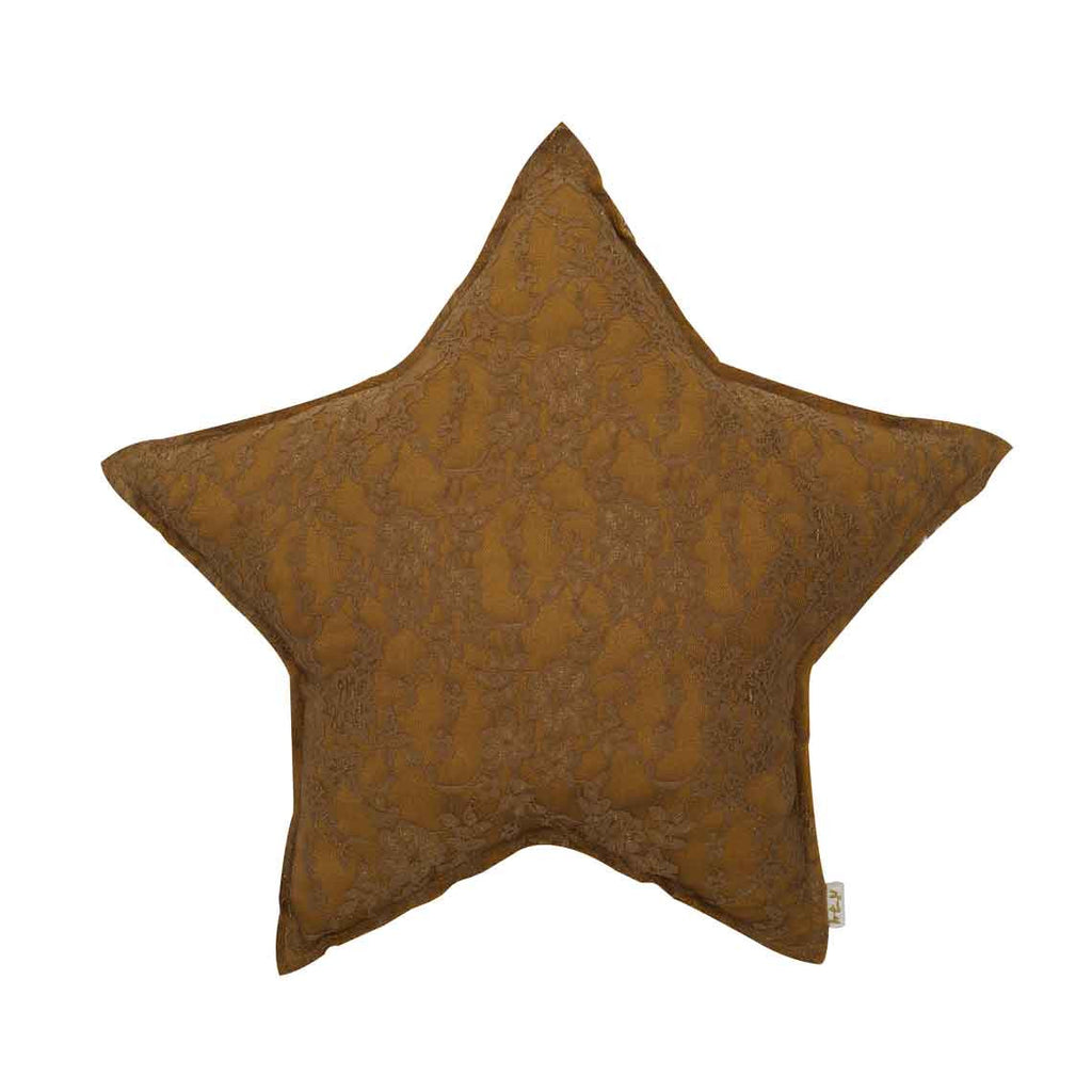 Star Cushion (Lace) - Gold