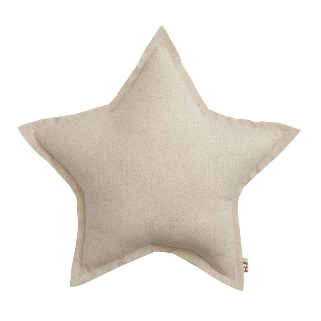 Star Cushion (Sparkly) - Natural