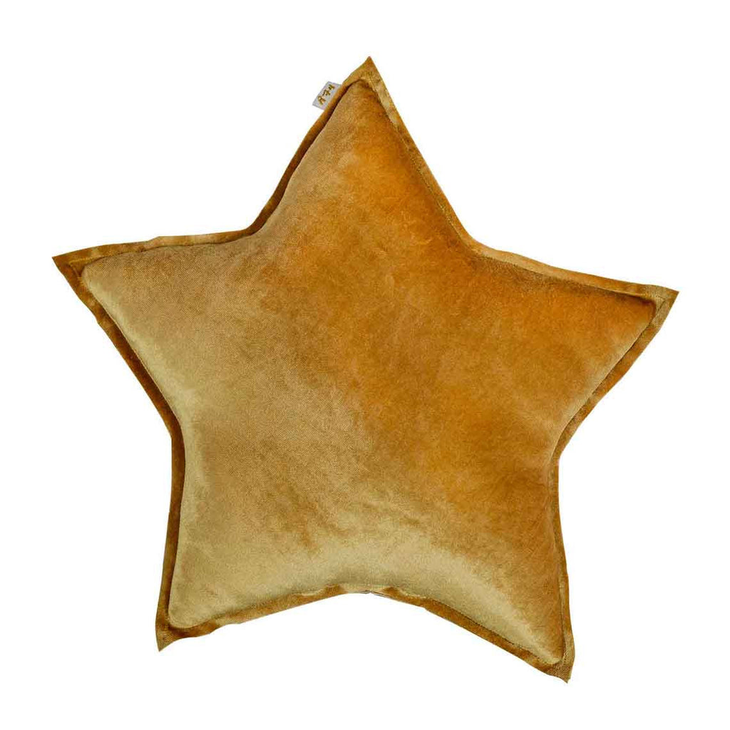 Star Cushion (Velvet) - Gold